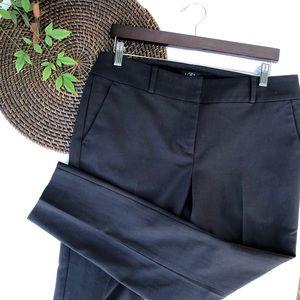 LOFT Pants Julie Skinny Black Career Ankle Size 10